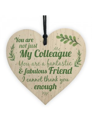 Colleague Fantastic Friend Wooden Heart Plaque Friendship Gift