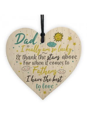 Dad Gifts For Christmas Wooden Heart Dad Daddy GIFT From Son
