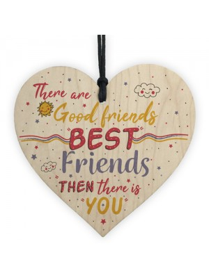 Christmas Gift For Best FRIEND Wood Heart Funny Friendship Gift