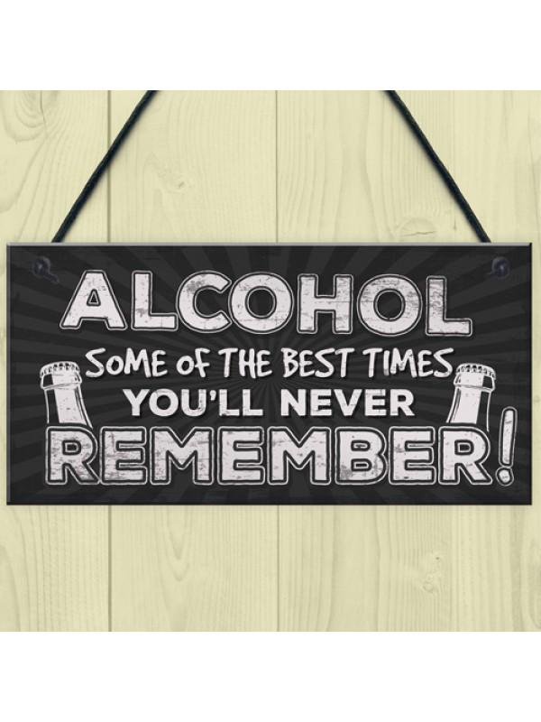 Funny Pub Bar Sign Kitchen ManCave Hanging Plaque Vodka GIFT