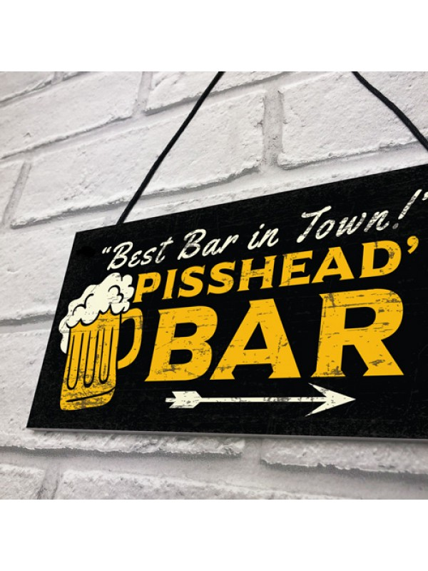 Home BAR Sign Funny Gin Beer Vodka Plaque Garden Shed Pub Sign