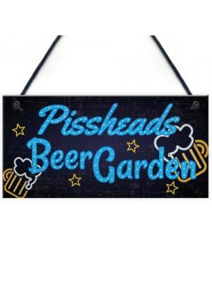 Beer Garden BAR Sign Funny Garden Shed Plaque Pub Man Cave Sign