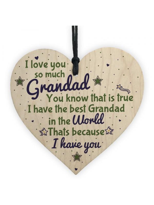 grandad gifts birthday from grandchildren wooden heart sign gift
