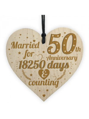 50th Wedding Anniversary Gift Gold Fifty Years Gift For Husband