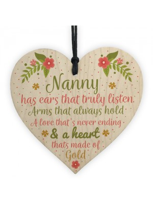 Nan Birthday Gifts Nanny Gran Grandma Grandad GIFT Heart Sign