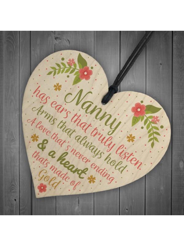 Nan Birthday Gifts Nanny Gran Grandma Grandad GIFT Heart Sign