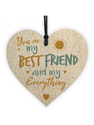 Best Friend Friendship Plaque Wood Heart Birthday Thank You Gift