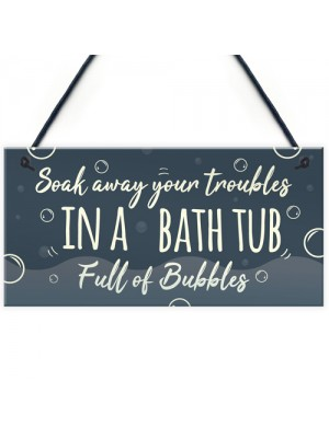 Bath Tub Bathroom Decor Toilet Door Sign Nautical Wall Sign
