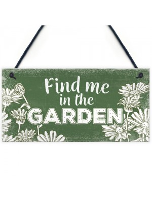 Find Me In The Garden Wall Door Gate Hanging Shed Summer House