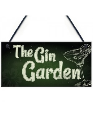 The Gin Garden Gin & Tonic Alcohol Sign Garden Shed Home Bar
