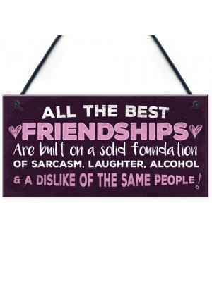 Friendship Sign Best Friend Plaque Funny Novelty Alcohol Gift