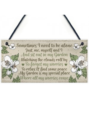 Special Garden Sign Summer House Shed Memorial Plaque Gift
