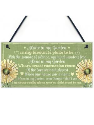 Novelty Hanging Garden Memorial Plaque Present Home Fence Sign