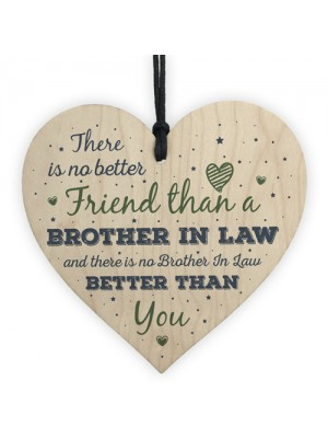Gifts For Brother In Law Birthday Card Heart Plaque Friend Gift