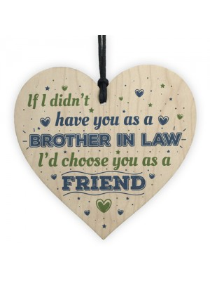 Brother In Law Birthday Gift Card Heart Plaque Friendship Gift