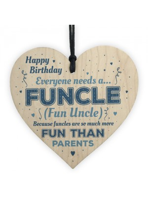 Happy Birthday Uncle Gift Wooden Heart Plaque Thank You Gifts