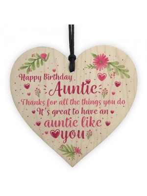 Auntie Gifts For Birthday Shabby Chic Wood Heart Best FRIEND