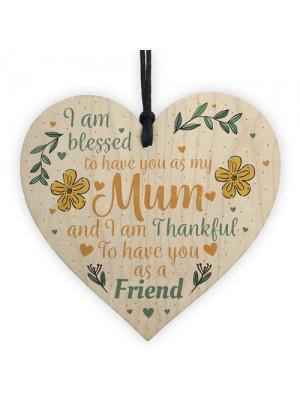 Gifts For Mum Mummy Gran Nanny Best Friend Plaque Wood Heart