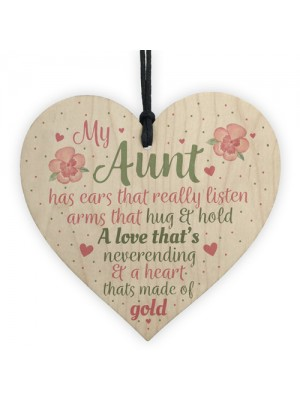 Best Friend Auntie Heart Gift Wood Chic Sign Birthday Keepsake
