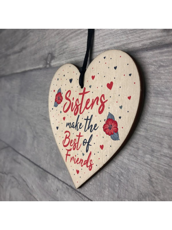 Sister Gifts Best Friend Plaque Heart Christmas Friendship Sign