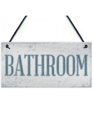 Shabby Chic Bathroom Sign Toilet WC The Loo Hanging Plaque