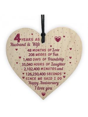 4th Wedding Anniversary Gift Heart Linen Fourth Wedding Gifts