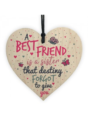 A Best FRIEND Sister Gifts Wood Heart Christmas Friendship Gift