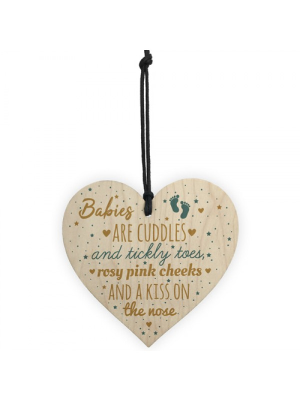 Mum To Be Present Wooden Heart Baby Shower Gift Plaque