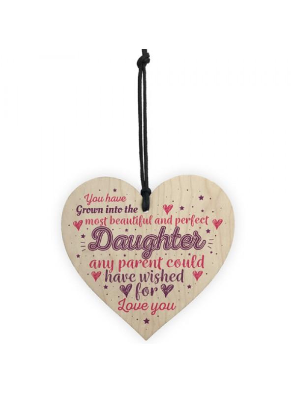 Handmade Daughter Gift Birthday Gift For Daughter Wooden Heart