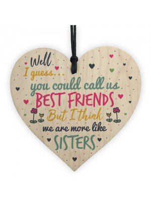 Like Sisters Best FRIEND Gifts Heart Christmas Friendship Gift