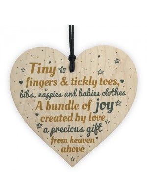 Daddy Mumy Mum Dad To Be Present Baby Shower Wooden Heart