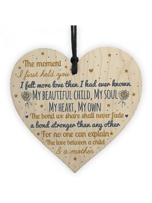 Mummy To Be Birthday Christmas Gift Wood Heart Baby Shower Gift