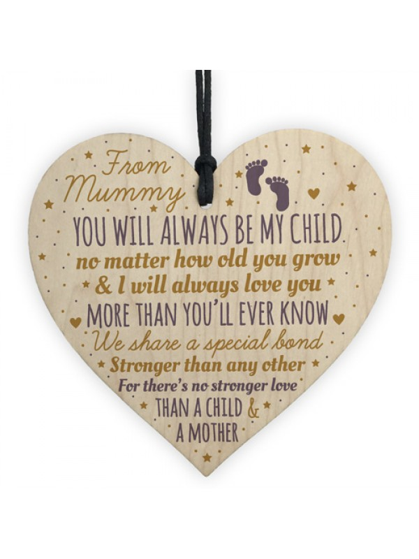 New Mum To Be Heart Novelty Baby Shower Gift Mummy Son