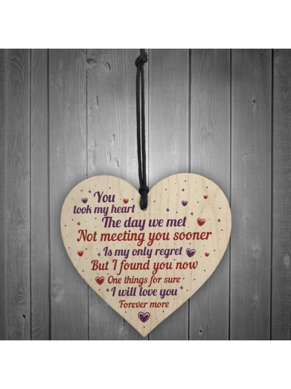 1st 2nd 3rd Anniversary Gift Heart Girl Boyfriend Wife Wedding