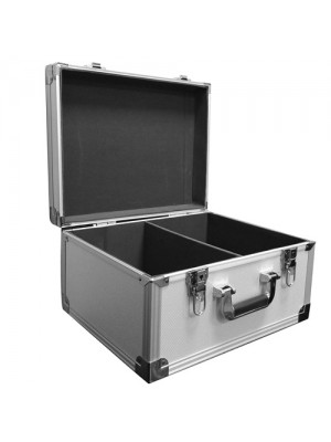 Silver DJ Record Box Flight Case - Holds 200 Vinyls