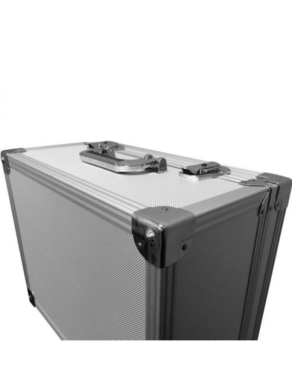 Silver DJ Record Box Flight Case - Holds 200 Vinyls