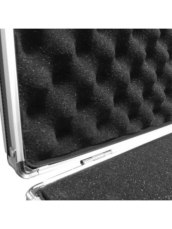 ALUMINIUM FLIGHT CASE Microphone Camera Silver 400 x 240 x 125mm