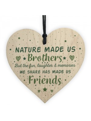 Brother Gift Friendship Wooden Heart Gifts For Brother Birthday