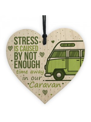 Novelty Caravan Sign Wood Heart Funny Plaque Home Door Gifts