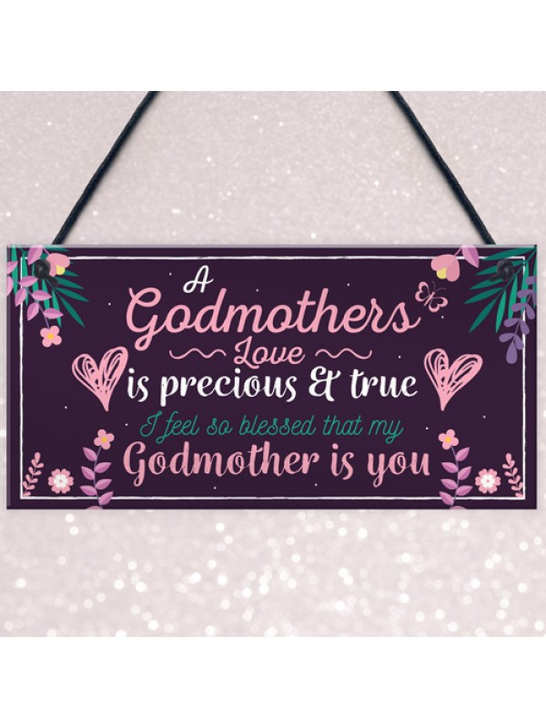 Godmother Thank You Keepsake Christening Godparent Friend Gifts