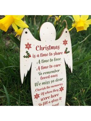 Wooden Angel Memorial Plaque For Mum Dad Nan Grandad Plaque