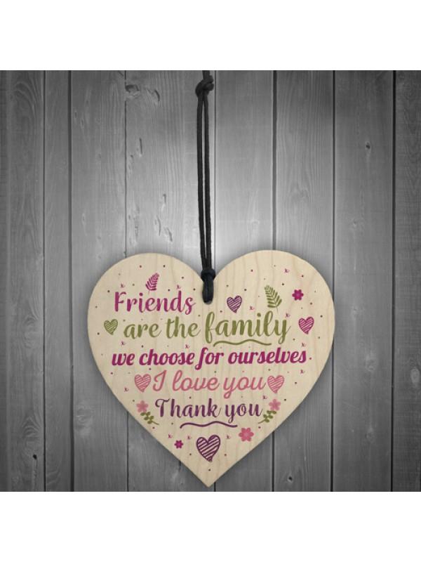 Handmade Friendship Plaque Best Friend Sign Wood Heart Gift