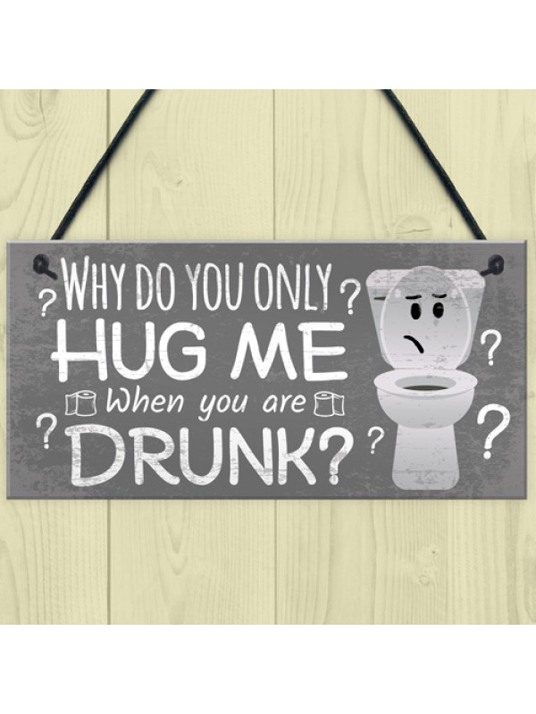 Novelty Bathroom Toilet Plaque Funny Home Decor Hanging Sign