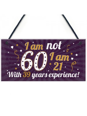 Funny 50th Birthday Gift Hanging Plaque Novelty Friendship Gift