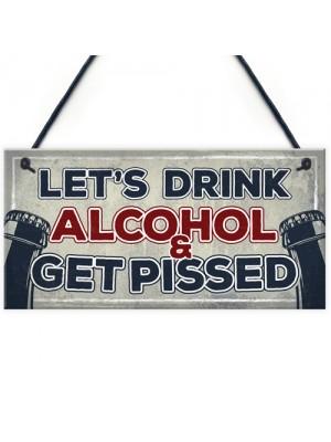 Funny Alcohol Sign Man Cave Home Bar Pub Hanging Plaque Vodka