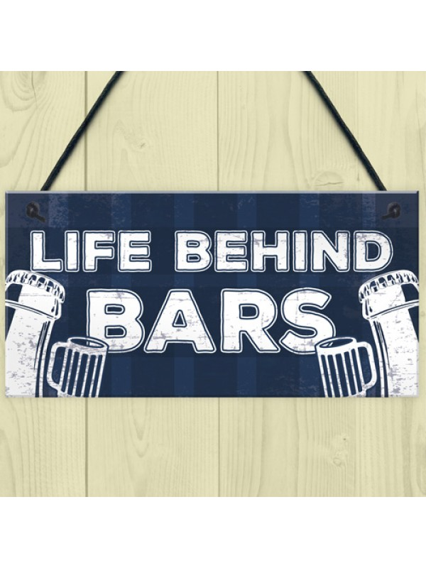 Man Cave Home Bar Sign Pub Plaque Gift For Him Alcohol Beer Gift