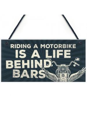 Motorbike Motorcycle Gift Hanging Plaque Gift For Dad Him Biker
