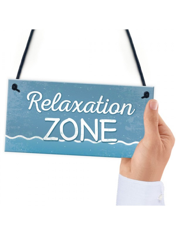 Relaxation Zone Hot Tub Man Cave Bathroom Garden Plaque Sign