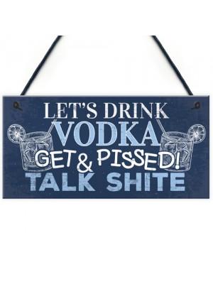 Funny Vodka Sign Man Cave Home Bar Pub Plaque Alcohol Gifts