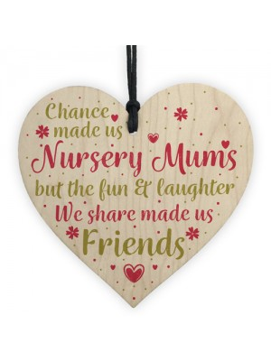 Chance Made Us Nursery Mums Wooden Hanging Heart Novelty Gift